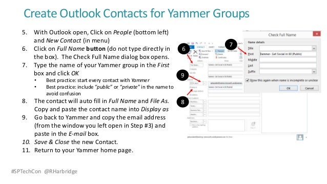 how to create contacts in outlook