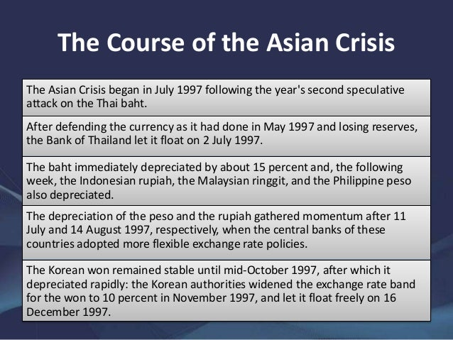 causes of thailand financial crisis 1997