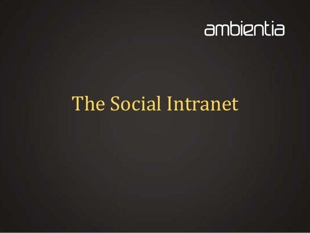 The Social Intranet