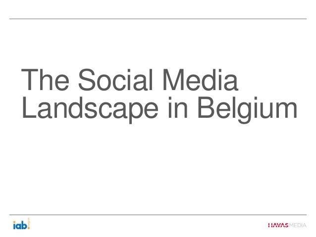 The Social MediaLandscape in Belgium