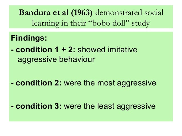 Bobo doll study findings suggest