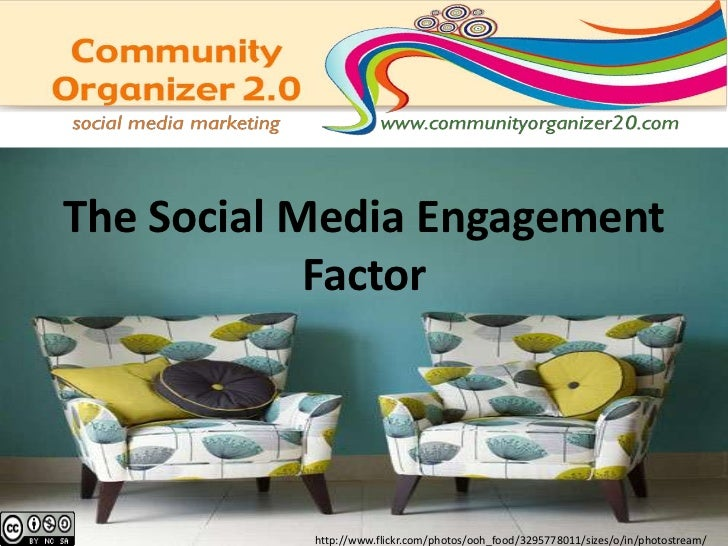 Designing Social Media Engagement<br />http://www.flickr.com/photos/ooh_food/3295778011/sizes/o/in/photostream/<br />