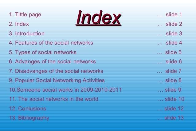 The social networks Slide 2