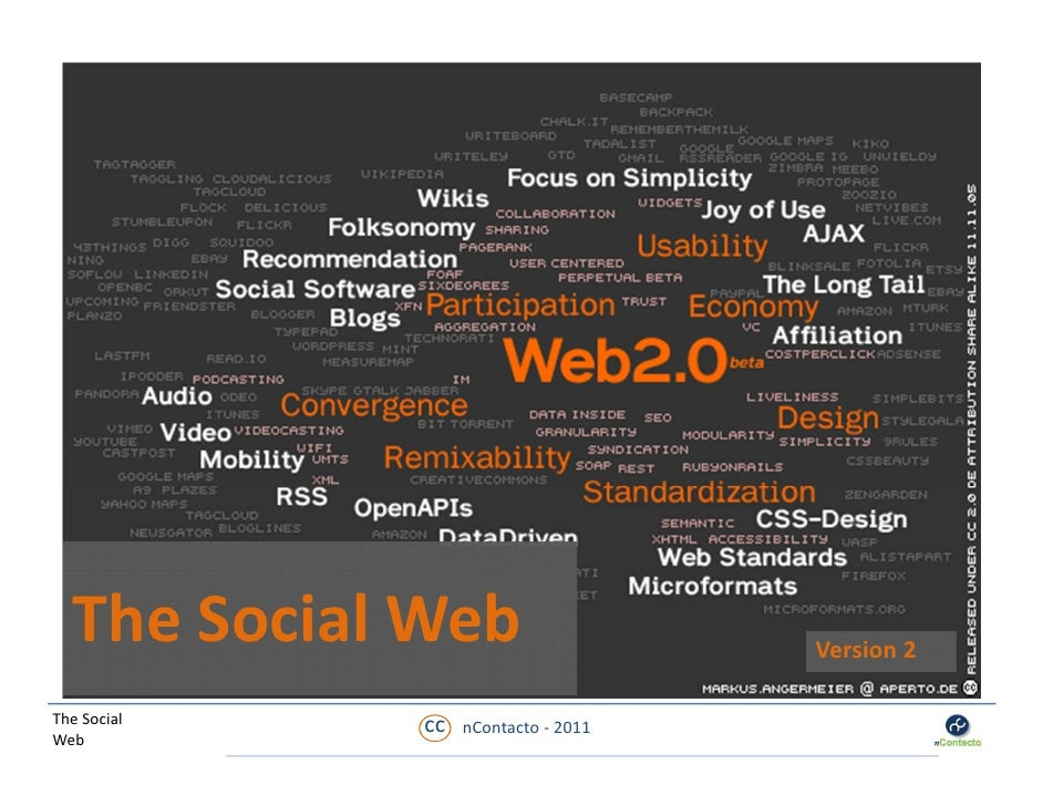 The Social Web                     Version 2The Social   cc   nContacto ‐ 2011Web