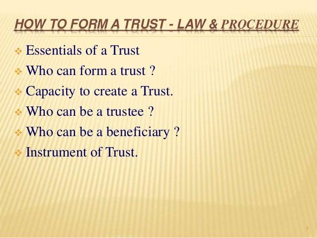 The societies & the trust