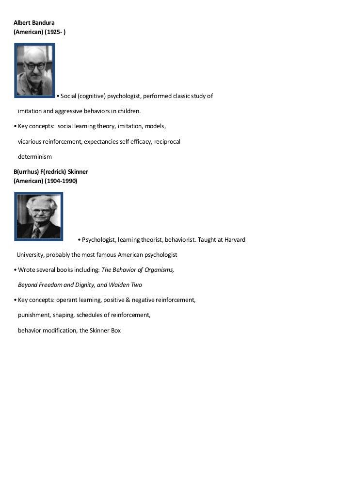 Albert Bandura(American) (1925- )                • Social (cognitive) psychologist, performed classic study of imitation a...