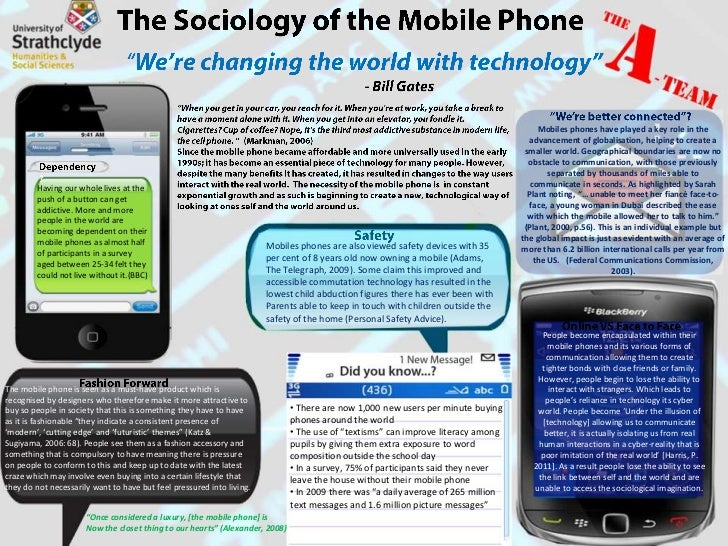 the sociological perspectives of cellular phones essay Question write an 1,050- to 1,400-word essay on technology and social change, covering the following: provide an introduction that defines both technology and social.