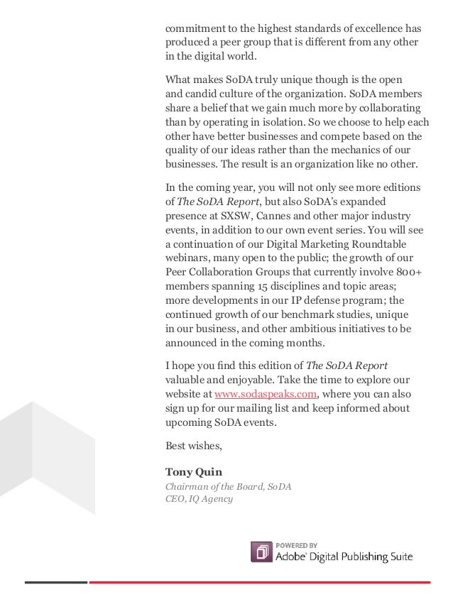 The SoDA Report (Volume 2, 2013) Slide 3