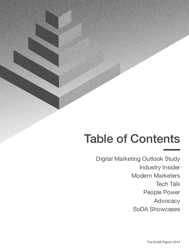 Digital Marketing Outlook Section Preface Respondent Overview Agency Ecosystems in 2014 The 2014 Budget Outlook The Rise o...