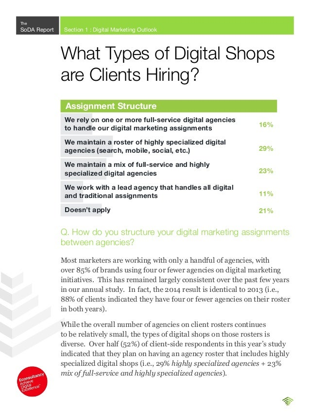 The number of marketers working with zero agencies has risen, again indicating that more and more of the responsibility fo...