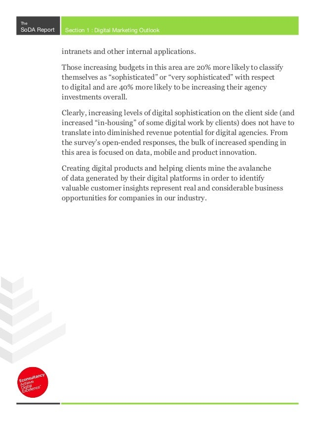 The SoDA Report Section 1 : Digital Marketing Outlook The Rise of Innovation Labs Q. Do you have an innovation lab /produc...