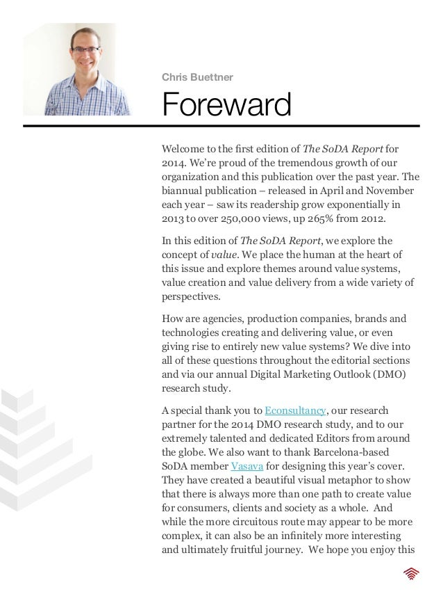 issue and, as always, we welcome your feedback, ideas and contributions for future editions. Best wishes, Chris Buettner M...