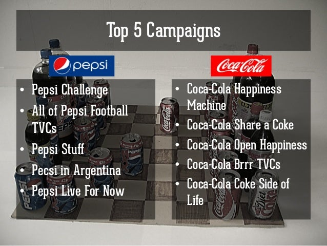 coke pepsi war Examines the industry structure and competitive strategy of coca-cola and pepsi over 100 years of.