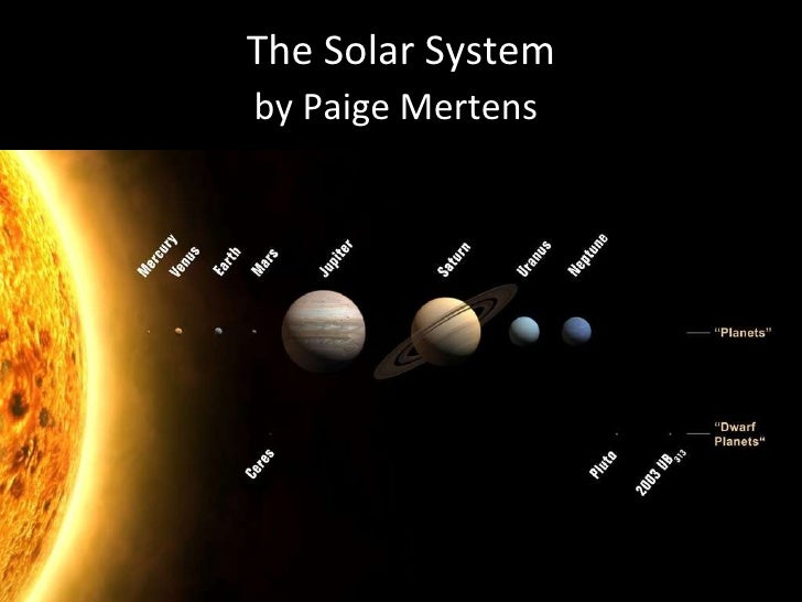 The Solar System by Paige Mertens