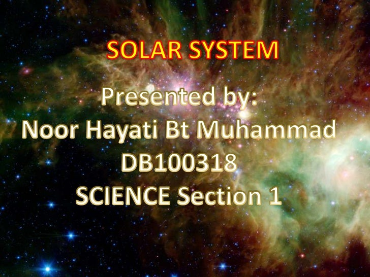 -Introduction-The Sun-Inner Planets (Terrestrial Planet)  a) Mercury  b) Venus  c) Earth  d) Mars- Asteroids Belt-Outer Pl...