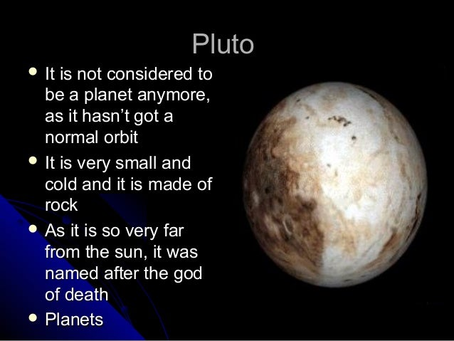 is pluto considered a planet -#main