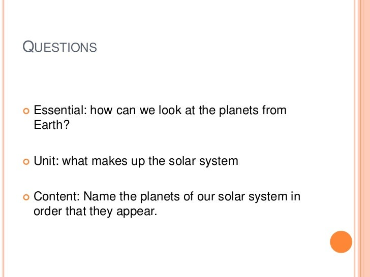solar system based questions - photo #22