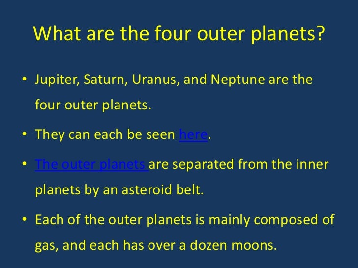 outer planets and their characteristic - photo #14