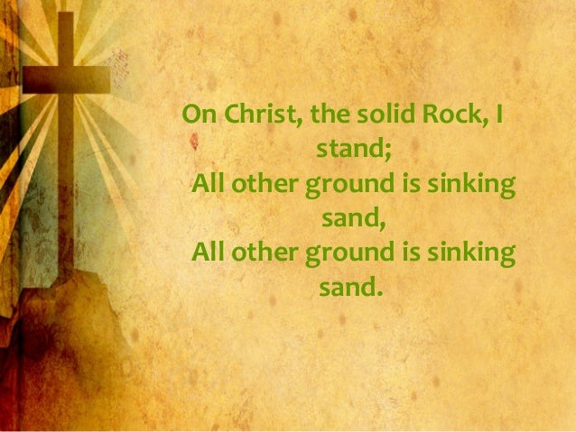 in christ alone with the solid rock pdf