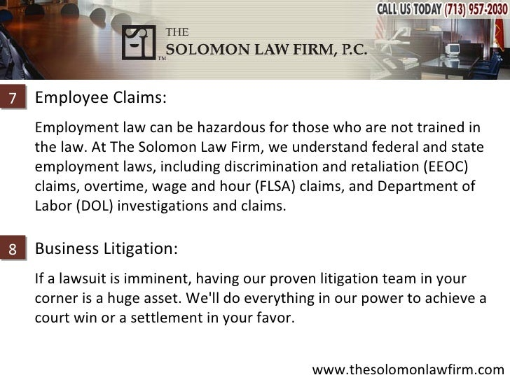 how to win an eeoc case the solomon firm p c business amp corporate 14317