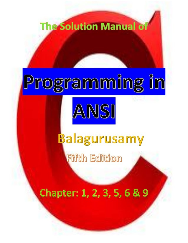 The solution manual of programming in ansi by robin 1 fandeluxe Choice Image