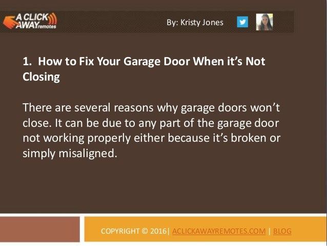 The Solutions For Garage Door Opener Problems A Click