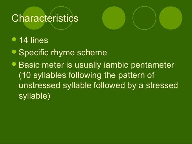 characteristics of shakespearean sonnets pdf