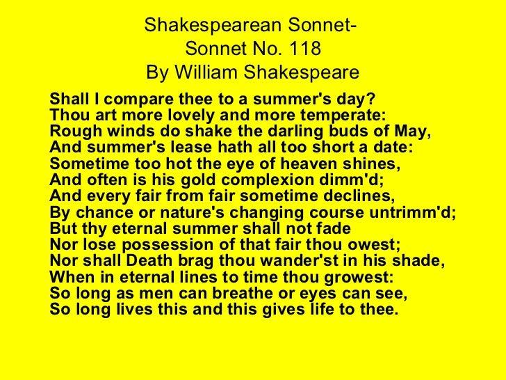 Sonnet 118