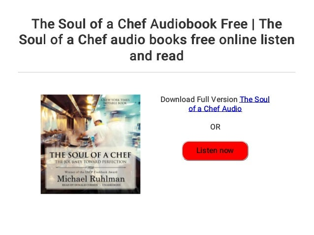The Soul Of A Chef Audiobook Free The Soul Of A Chef Audio Books Fr
