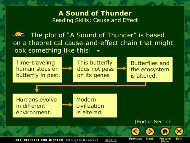 critical response essay on a sound of thunder Sample of 'a sound of thunder' and 'nethergrave' essay (you can also order custom written 'a sound of thunder' and 'nethergrave' essay.