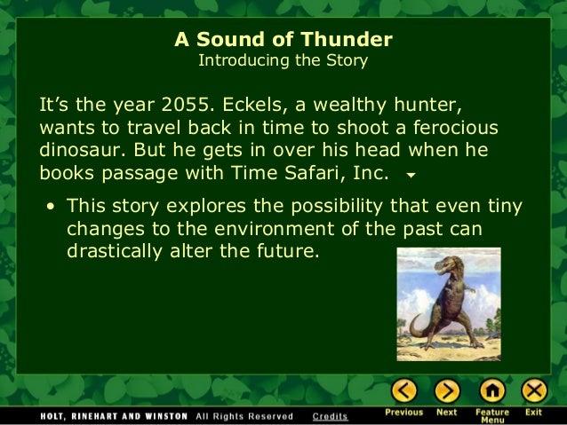 a sound of thunder short story pdf