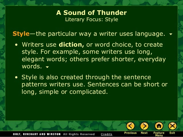 a sound of thunder study guide