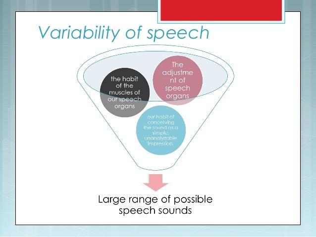 Variability of speech