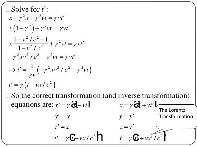 transformation de lorentz pdf