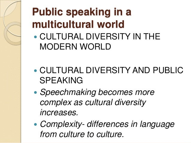 multiculturalism speech example Free multiculturalism papers, essays, and research papers  for example, i can't tolerate you blacks or i can't tolerate you whites.