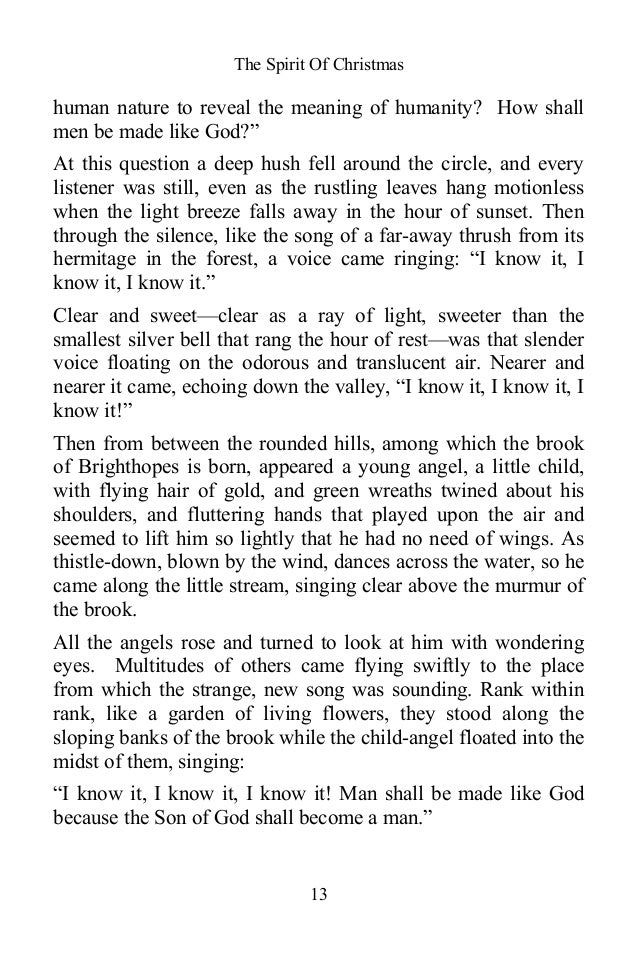 essay about christmas spirit