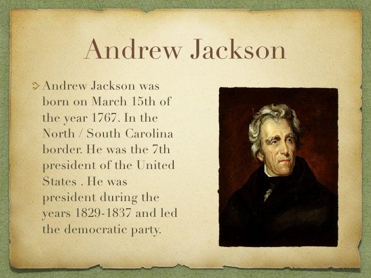 president andrew jackson 2 essay