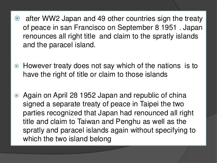 spratly islands dispute essay Eugene yong pol sci 20 essay 1 south china sea dispute who the south china sea dispute is a territorial  the key islands in question are the spratly islands,.