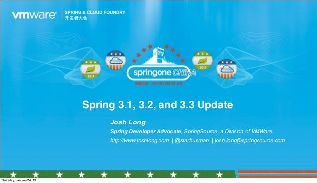 Spring 3.1, 3.2, and 3.3 Update                                                                                           ...