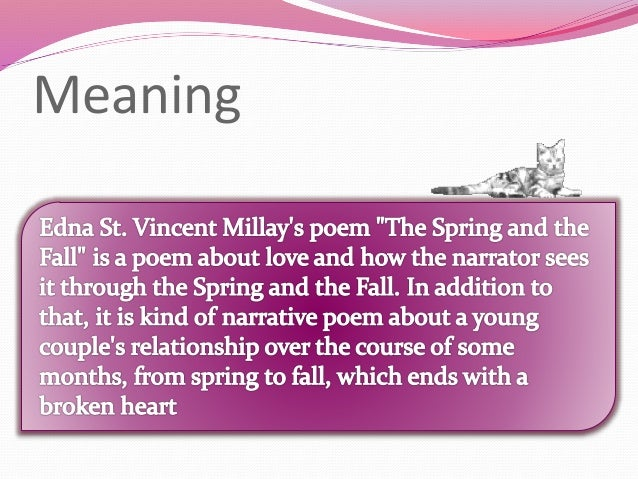 an explanation of spring and fall Fall factor and impact force are two important concepts in the physics of climbing falls to understand a climbing fall, it is important to recall a basic law of physics: when an object falls, it stores energy.