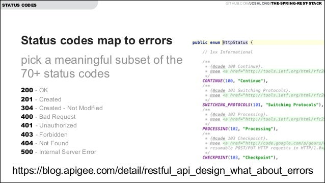 rest api error codes