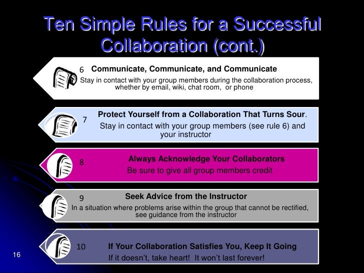 14<br />Successful Collaboration<br /> Learn about each other.<br /> Communicate frequently and effectively.<br /> Try ...