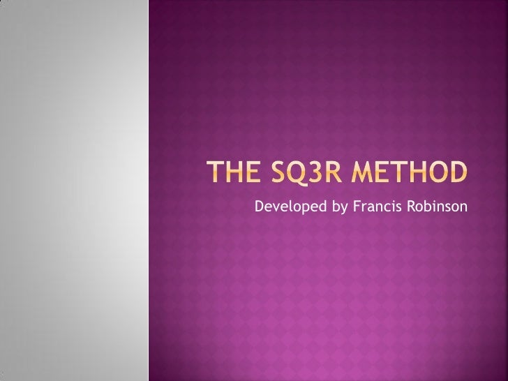 when is sq3r used