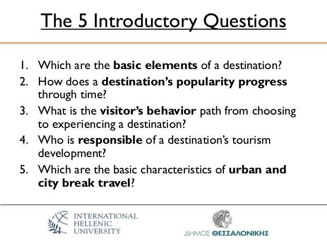 Related literature about development of tourists destination