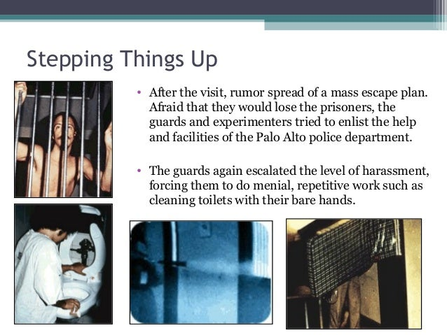 Stepping Things Up • After the visit, rumor spread of a mass escape plan. Afraid that they would lose the prisoners, the g...
