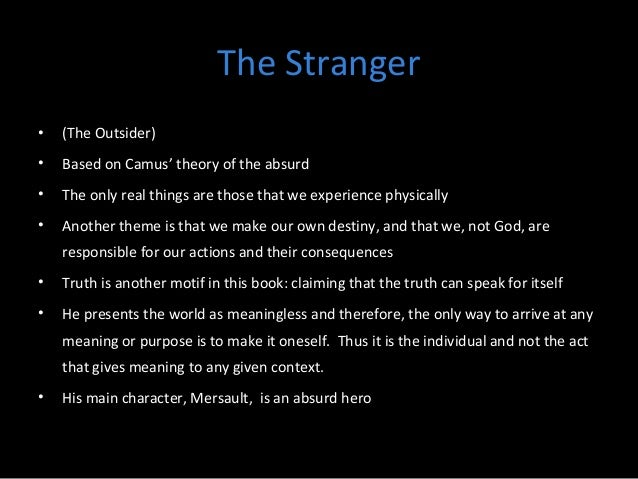 The Stranger Essay by JK