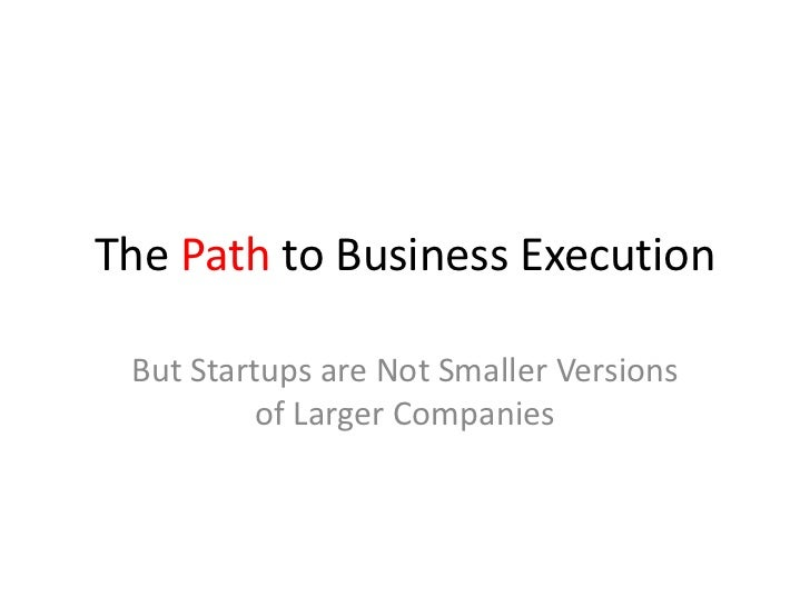 The Startup PathSearch Versus Execution