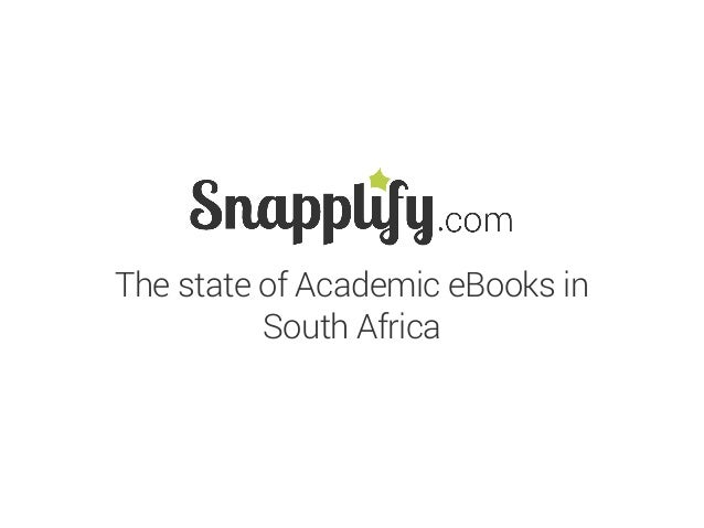 The state of Academic eBooks in South Africa
