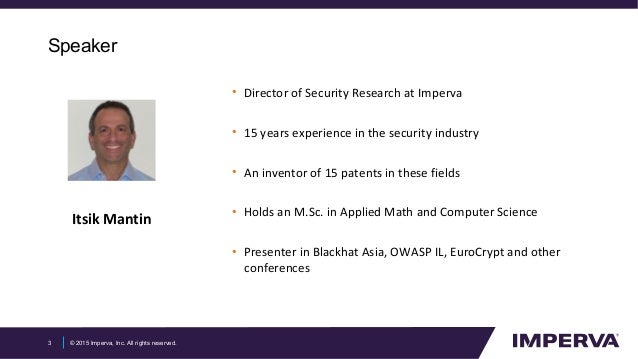 The State of Application Security: Hackers On Steroids Slide 3
