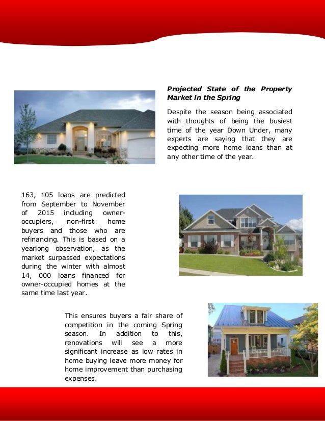 The State Of Au S Property Market As It Enters Spring